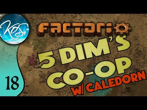 Factorio 5Dim's Co-op Ep 18: BAUXITE AVALANCHE - MP with Caledorn, Let's Play, Gameplay