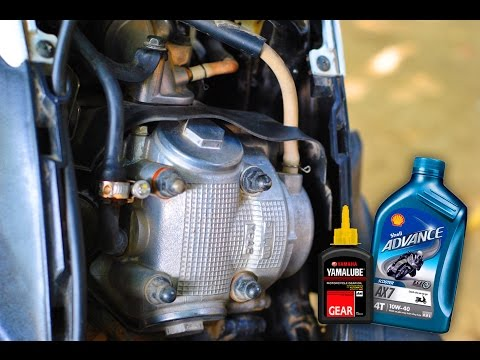 how to change engine oil and gear oil mio sporty