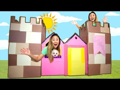DIY BOX FORT CASTLE!!