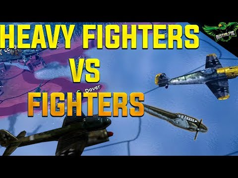 HOI4 Fighters vs Heavy Fighters | Which are Better? (Hearts
