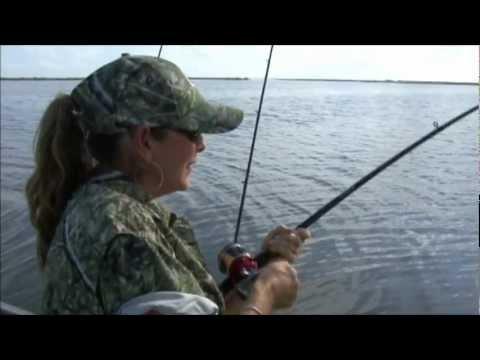 Kathy Fishin for Redfish in Rockport,Texas