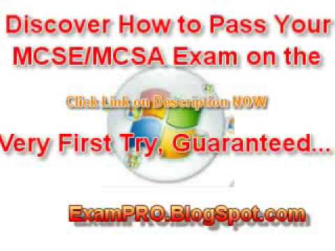 How to Pass MICROSOFT Exam on Your Very First Try MCSE MCSA