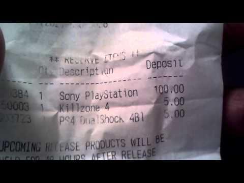 Ps4 receipt from gamestop