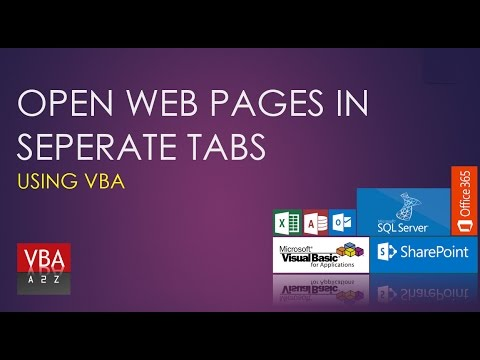 VBA to open multiple web pages in same Internet Session