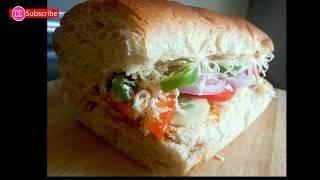 Subway Sandwich I Veg Subway Sandwich I Sub Sandwich I Footlong Sandwich How to make Subway Sandwich