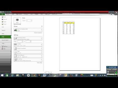Print row & column headings in Excel
