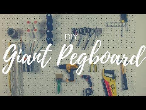 DIY GIANT PEGBOARD!!!