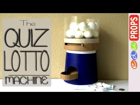 THE AMAZING LOTTO MACHINE _ How to Make a Lottery Machine for Quizzes, Lucky Draw | Edu Props