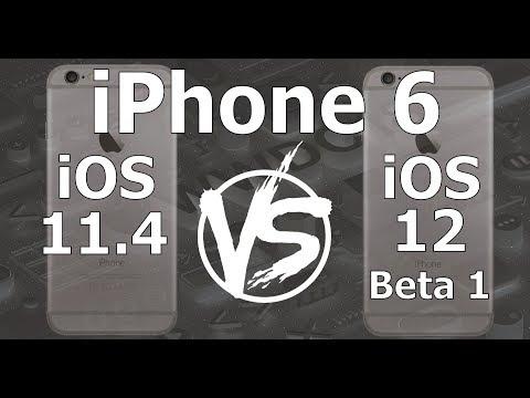 Speed Test : iPhone 6 - iOS 12 Beta 1 vs iOS 11.4 (iOS 12 Beta 1 Build 16A5288q)