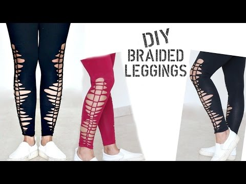 Convert Old Plain Leggings to Stylish Braided Leggings for these Summers || Slick and Natty