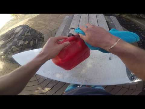 How to clean your surfboard #hack - Courts Council