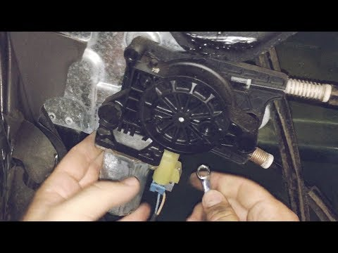 Trailblazer window won't roll up - How to remove/replace a power window motor