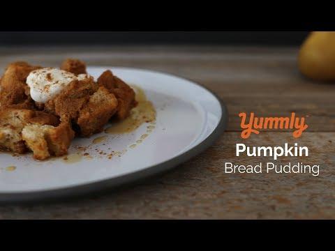 Lightened-Up Pumpkin Bread Pudding