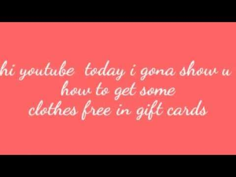 stardoll how to get free clothes in gift cards