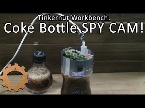 BUILD: Coke Bottle SPY CAM! - Tinkernut Workbench