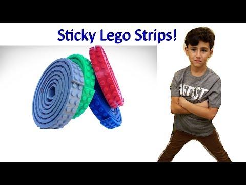 Sticky Lego Strips   They stick to the walls!