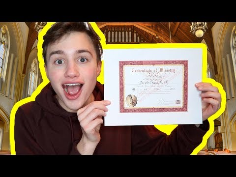 BECOMING AN ORDAINED MINISTER! (please let me marry you)