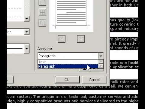Microsoft Office Word 2003 Change HTML DIV borders
