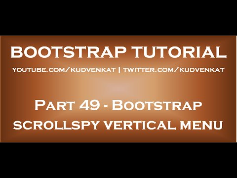 Bootstrap scrollspy vertical menu