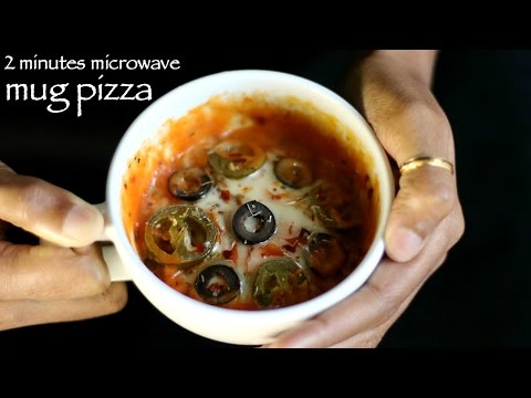 mug pizza recipe   pizza in microwave recipe   2 mins mug pizza cake