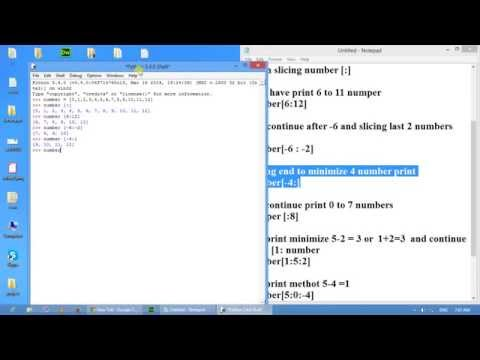 How to Slicing in python Part 09