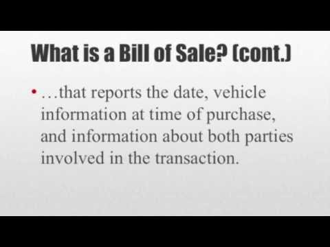 How to Write a Bill of Sale