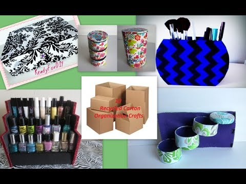 10 Awesome Organization Crafts You Need To Try With Recycling Carton Boxes- Compilation DIY
