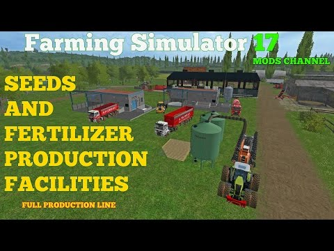 Farming Simulator 2017  Mods Produced Your Own Seeds And Fertilizer