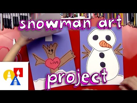 Snowman Art Project With Construction Paper