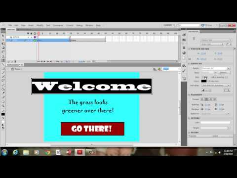 Creating Interactive Buttons with Adobe Flash CS5.5
