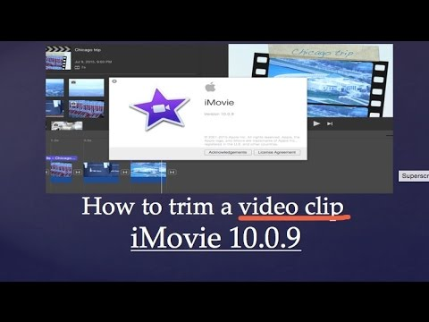 How to Trim a clip in iMovie 10.0.9