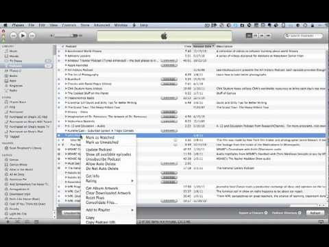 Managing Podcasts in iTunes