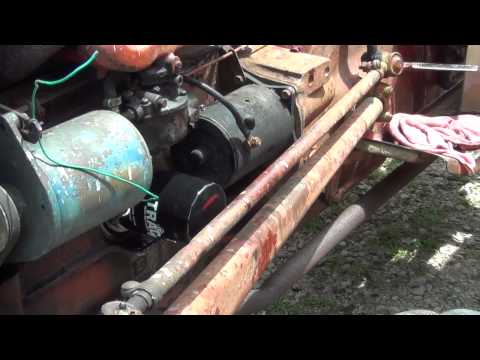 Ford 600 tractor back together. Spin on oil filter, and a few other improvements