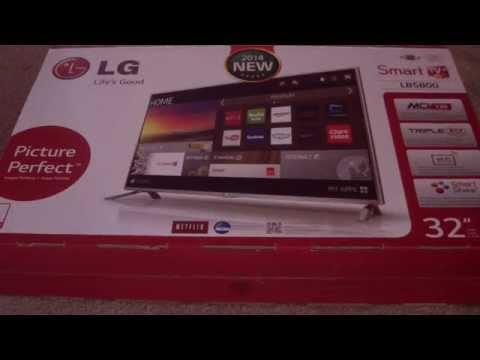 UNBOXING 32LB5800 LG 32 INCH 1080P SMART TV