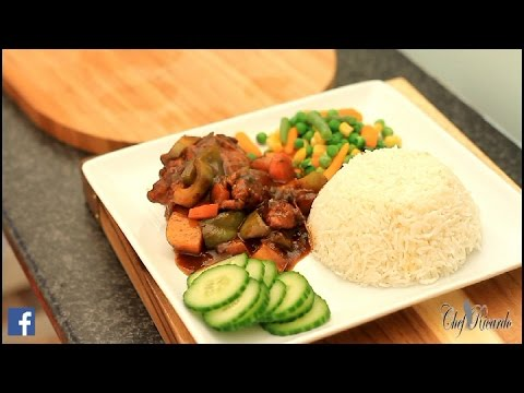 Best Jamaican Brown Stew Chicken Recipe Video | Recipes By Chef Ricardo
