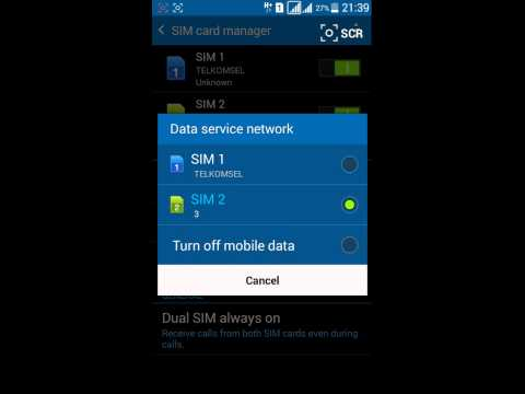 How to Change Data Service Network on Samsung Galaxy with 2 SIM Cards