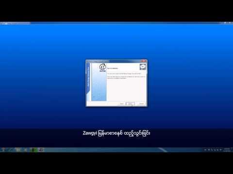 Installing Zawgyi Font and Keyboard