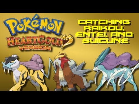 Pokemon Heart Gold: How to Catch Raikou, Entei, and Suicune