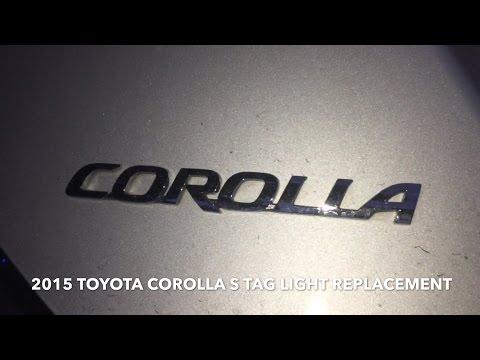 2015 Toyota Corolla Tag Light