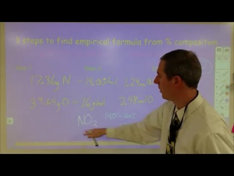 3 steps to find the empirical formula