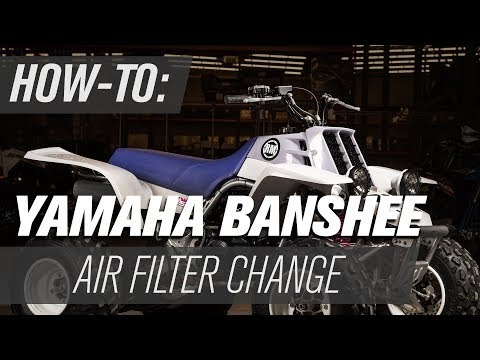 How To Change the Air Filter on a Yamaha Banshee