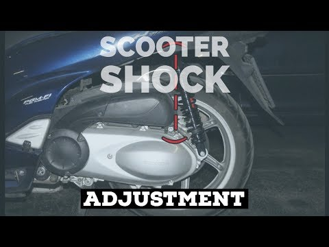 how2 adjust scooter SHOCK ABSORBERs - ie  BITUBO for honda sh300i - FMPguides