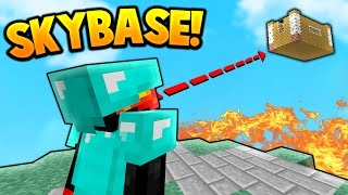 SKY BASE TROLLING! | Minecraft SKY WARS