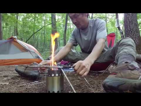 Solo Wood Stove with Pack Grill Cooking - Steak & Coffee