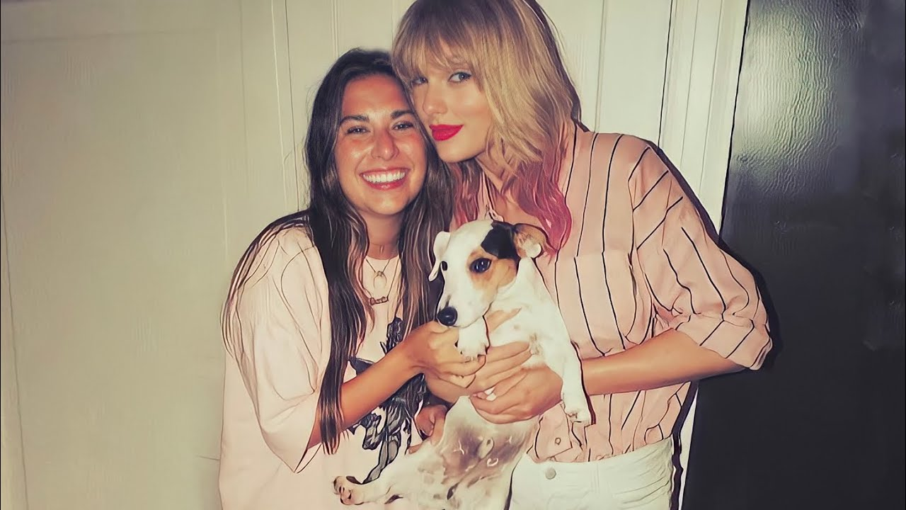 Taylor Swift liking dogs for 4 minutes straight