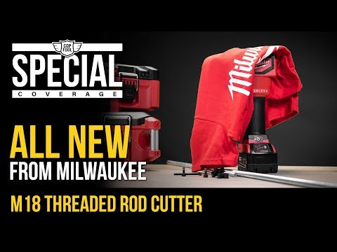 All NEW Milwaukee M18 Brushless Threaded Rod Cutter - How to use