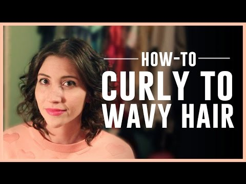Curly Into Wavy Hair Tutorial