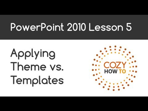 PowerPoint Applying Theme vs. Template Lesson 05
