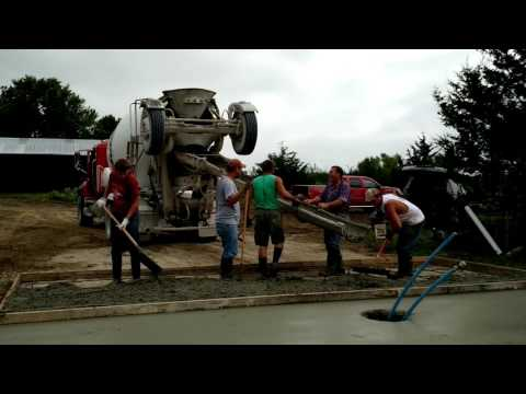 Pouring Concrete for a Pasture Cattle Drink, Part 1