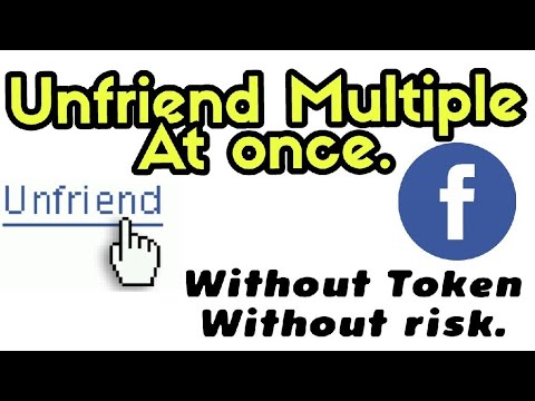 UNFRIEND MULTIPLE FRIEND IN ONE CLICK. how to Unfriend all friend in just one click. MrTechG